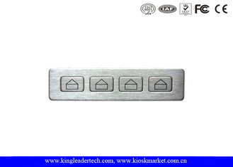 IP65 Rated Metal Function Industrial Numeric Keypad With 4 Short Travel Metal Keys